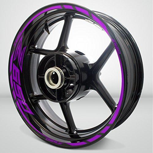 Matte Purple Motorcycle Rim Wheel Decal Accessory Sticker For Kawasaki Z650