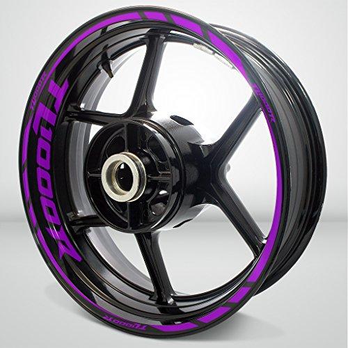 Matte Purple Motorcycle Rim Wheel Decal Accessory Sticker for Suzuki TL1000R