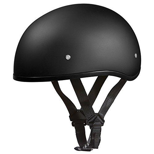 Daytona Helmets Slim Line Skull Cap DOT 12 Shell Helmet Motorcycle Helmet Dull BlackLarge