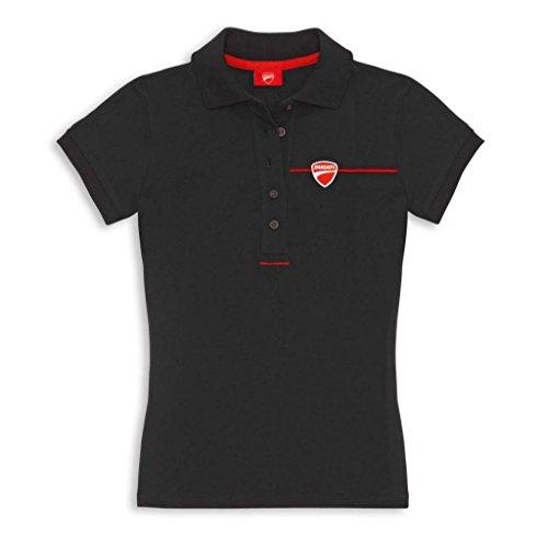 Ducati Womens Company Logo Polo Medium Black