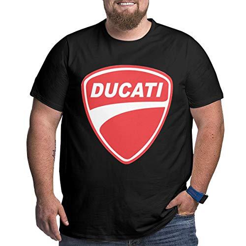 Jingliyu Customized Ducati-Logo Fashion Large Size T-Shirt O-Neck for Man Black XL