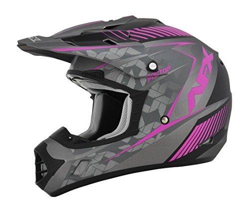 AFX FX-17 Factor Womens Motocross Helmets - PinkGray - Small