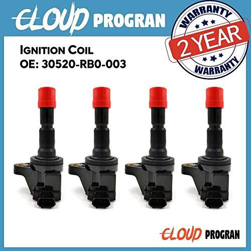 4 Pcs Ignition Coil 30520-RB0-003 CM11-116 For Honda 2009-2013 CR-Z 15L 2011-2016