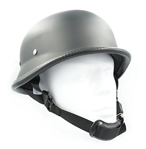 Hot Rides Classic Chopper Biker Motorcycle Helmet Novelty German Flat Black Large