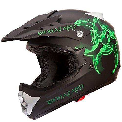 IV2 BIOHAZARD Ultra High Performance MotocrossATVDirtbike Helmet - Matte BlackBiohazard L