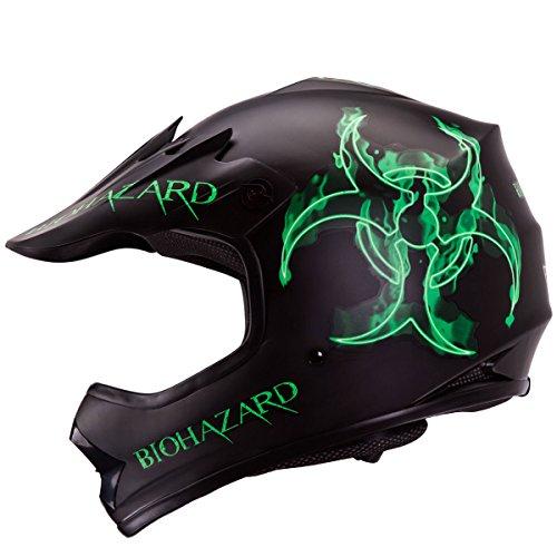 IV2 YouthKid Size BIOHAZARD High Performance Motocross ATV Dirt Bike Helmet DOT - Medium