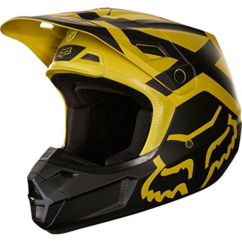 2018 Fox Racing V2 Preme Helmet-Dark Yellow-L