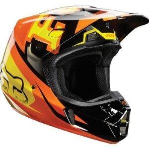 Fox Racing Anthem Mens V2 MotoXOff-RoadDirt Bike Motorcycle Helmet - Orange  Medium