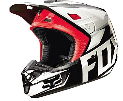 Fox Racing Race Mens V2 Motocross Motorcycle Helmet - Black  Medium