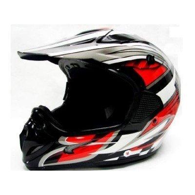 TMS Adult Tms RED Black Dirt Bike ATV Motocross Helmet Off-road Large