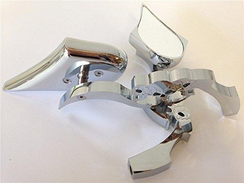 CHROME Billet Skull Blade Mirror fit for Harley Electra Heritage Sportster Glide