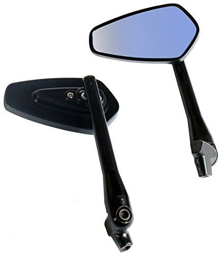 One Pair Black Arrow Rear View Mirrors for 2002 Yamaha V Star 650 XVS650AT Silverado