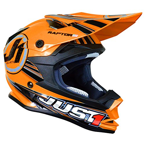 Just 1 J32 Raptor Motocross Helmet Orange Large