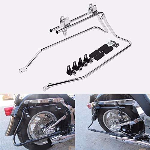 Saddlebag Conversion Brackets Mounts for Harley Davidson Softail wHardware chrome