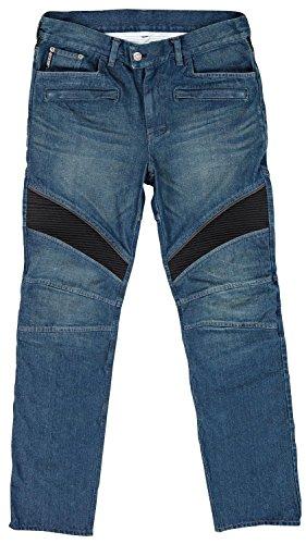 Joe Rocket Mens Accelerator Jean Blue Size 34 Kevlar Reinforced Short