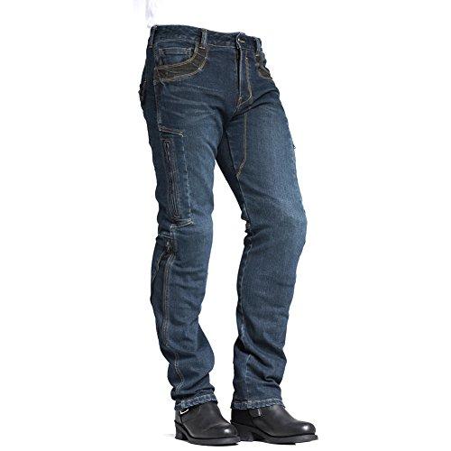 MAXLER JEAN Men's Bike Motorcycle Motorbike Kevlar Jeans 002 Blue 32