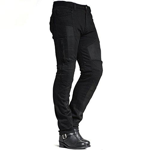 MAXLER JEAN Men's Bike Motorcycle Motorbike Kevlar Jeans 1614 for summer Black 32