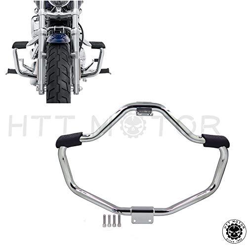 HTTMT Front Crash Bar Compatible with 2004-2016 Harley Davidson Sportster Iron 883 XL883N XL1200N XL1200L 48 XL1200X Saftey Bars Protection Tube Chrome PN MT504-002-CD