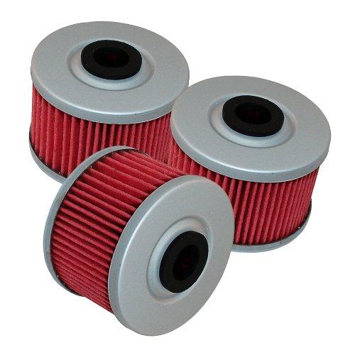 Caltric 3 Pack Oil Filter Fits Honda Xr650l Xr-650l Xr650r Xr-650r Xr 650r 1993-2013