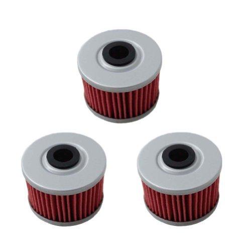 New Pack Of 3 Oil Filter For Honda Trx350 Trx400 Ex Cb400 Atc250es Trx500 Rancher Foreman Replace Hf113 & Kn113
