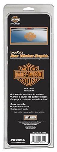 CHROMA 46015 Harley-Davidson Large B&S Orange Logo Cutz Decal