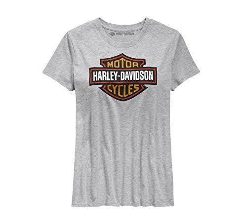HARLEY-DAVIDSON Womens Logo Tee Gray Small