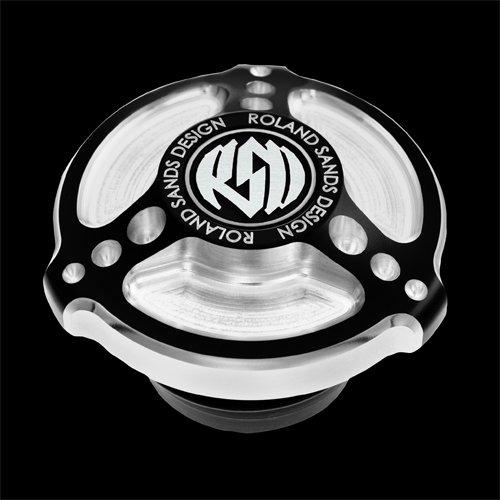 Roland Sands Design #0210-2007-bm Billet Tracker Contrast Cut Screw In Vented Gas Cap For Harley-davidson