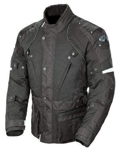 Joe Rocket Ballistic Revolution Mens Textile Motorcycle Riding Jacket BlackBlack Medium