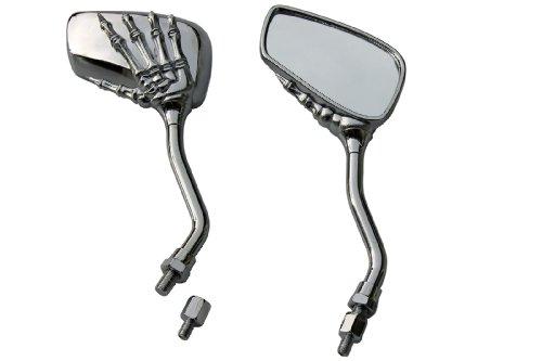 CHROME SKULL HAND SKELLINGTON REARVIEW MOTORCYCLE MIRRORS FOR 2010 Honda Sabre 1300 VT1300CS