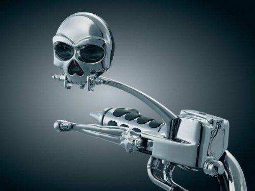 Kuryakyn 1450 Zombie™ Skull Mirrors For Harley-Davidson