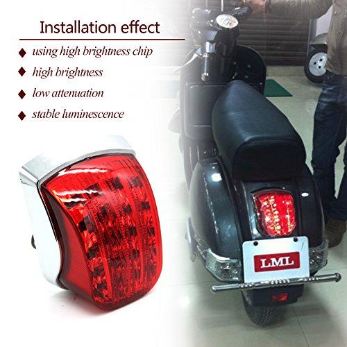 LED Tail Light Vespa PX 125 150 200 LML StarNV 2 STROKNV 4 STROKESTAR EURO 200STAR EURO 150