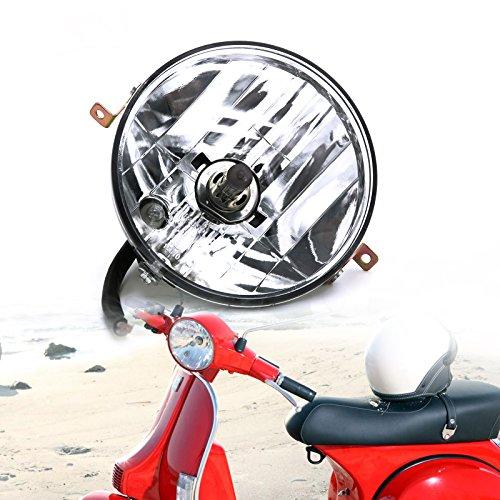 Motorcycle Headlight Assembly Round Clear Head Lamp for Vespa PX PE 125 150 200 LML Star Stella Star 4S VINTAGE EVOLUTION 4S EVOLUTION 2S LML STAR 4S 2S VINTAGE 2S GT 2T LML STAR 125