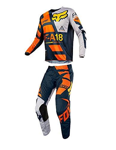 Fox Racing 2018 Youth 180 Sayak Combo Jersey Pants ATV UTV MX Offroad Dirtbike Motocross Riding Gear Orange