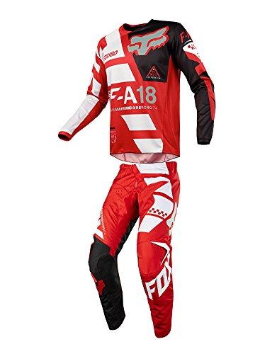 Fox Racing 2018 Youth 180 Sayak Combo Jersey Pants ATV UTV MX Offroad Dirtbike Motocross Riding Gear Red