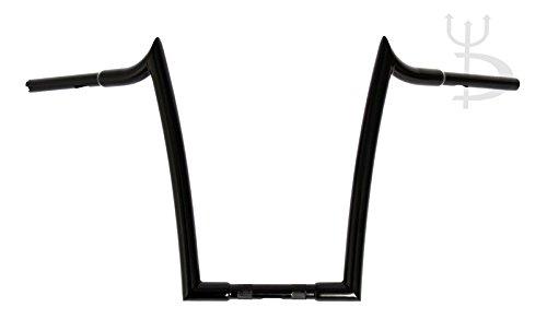 DEMONS CYCLE Mayhem Black 16 Rise Meathooks Ape Hangers 1-14 Diameter Handlebars for Harley Motorcycles
