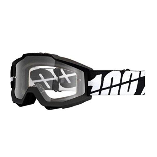 100% Accuri Otg Bk Tornado Men's Off-road/dirt Bike Motorcycle Goggles Eyewear - Black/smoke / One Size