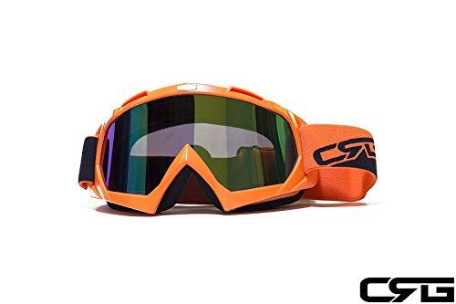 Crg Sports Motocross Atv Dirt Bike Off Road Racing Goggles Orange T815-7-6 T815-7-6 - Parent