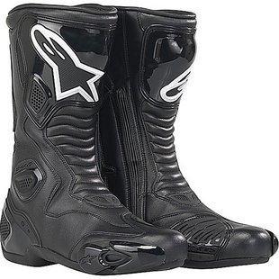 Alpinestars S-mx 5 Men's Performance/road Riding Street Racing Motorcycle Boots - Black / Size 41