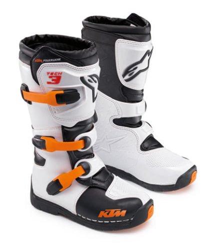 Alpinestars Tech 3s Ktm Motocross Dirtbike Youth Kids Boots Orange Size 3 35.5