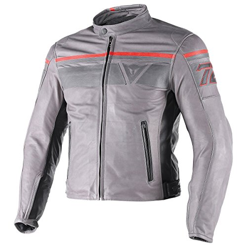 Dainese Blackjack Leather Jacket SMOKEMAGNESIUMBLACK