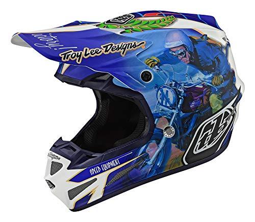 Troy Lee Designs Adult Offroad Motocross Malcolm Smith Composite SE4 Helmet XX-Large Blue