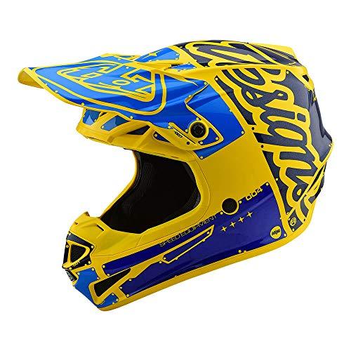 Troy Lee Designs Adult OffroadMotocrossPolyacrylite SE4 Factory Medium YellowBlue