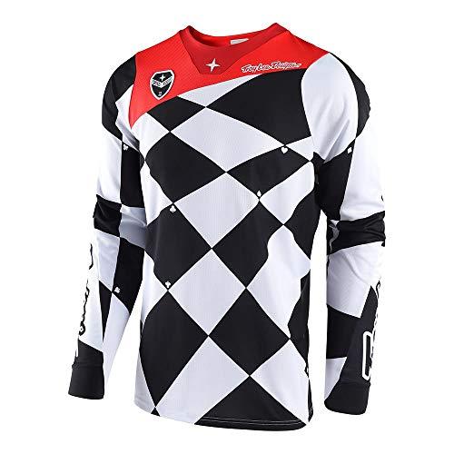 Troy Lee Designs Mens Offroad Motocross Joker SE Jersey Medium WhiteBlack
