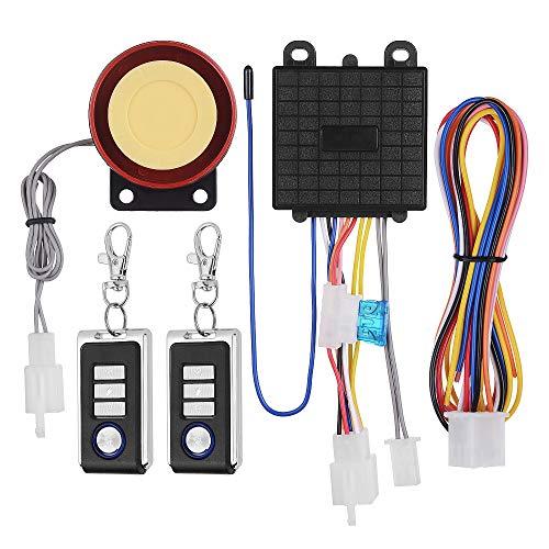 KKmoon Motorcycle Security Kit Alarm System DC12V Anti-Theft Alarm Security System Remote Control Engine Start Kit with125dB Alarm Speaker