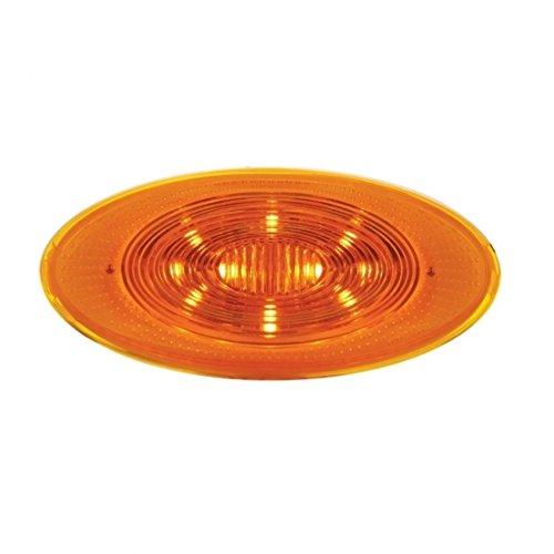 LED Peterbilt Oval Front Fender Turn Signal Light - Amber LEDAmber Lens