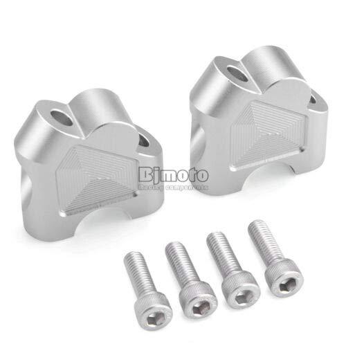 FidgetKute Clamp Extend Handle Riser 35mm Up 12mm Back for DL250 GW250FS DL650 Silver