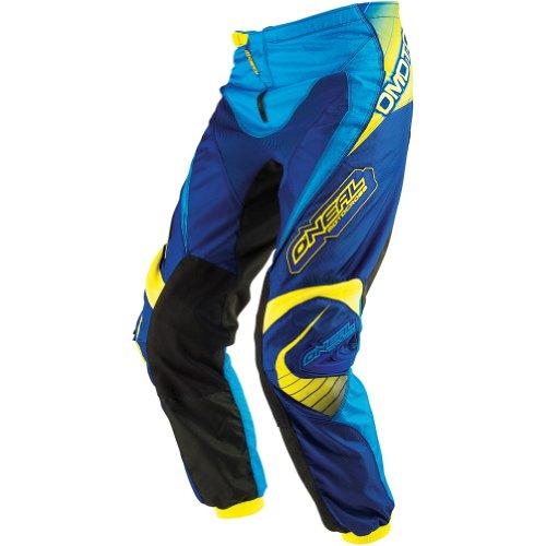 ONeal Racing Element Racewear Mens MotoXOff-RoadDirt Bike Motorcycle Pants - BlueYellow  Size 28
