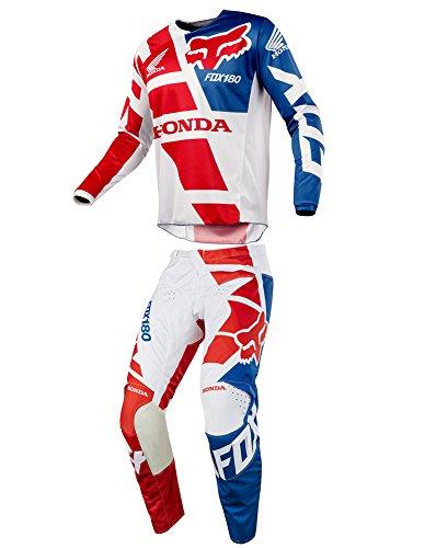Fox Racing 2018 180 Honda Red JerseyPants Adult Mens Combo Offroad MX Gear Motocross Riding Gear Red