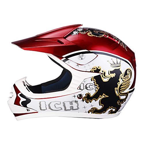 Bei Cheng DOT Youth Motocross Helmet Full Face Offroad Dirt Bike Helmet Motorcycle ATV Mountain Bike Sports