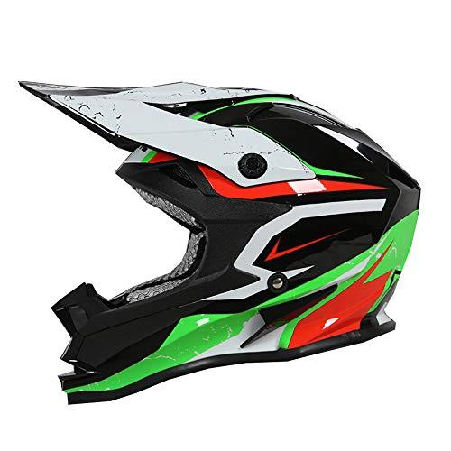 Ssmmxx Youth Motocross Helmet Adult Men and Women Motorcycle Scooter ATV Protective Helmet DOT CertificationL